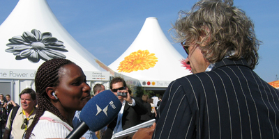 Collins Vumiria interviews Bob Geldof